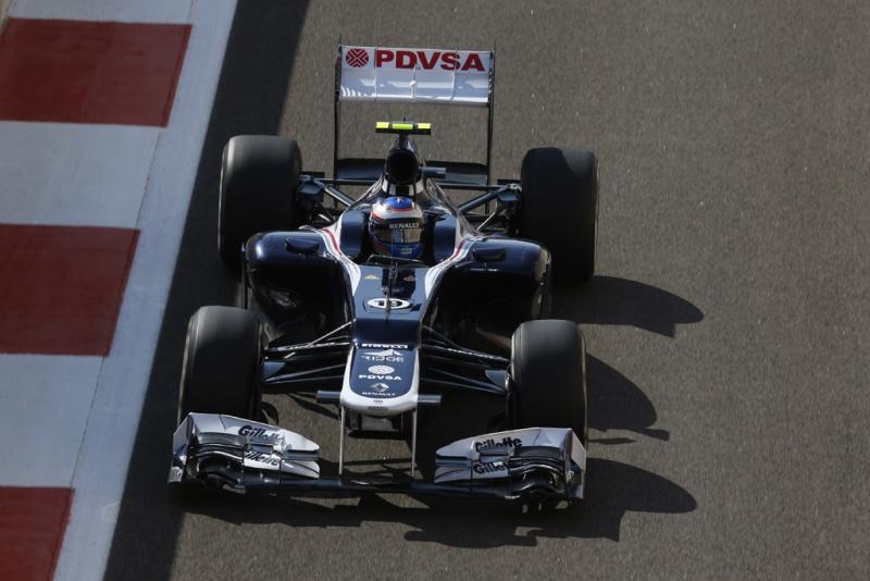 Bottas testando a Williams em 2012