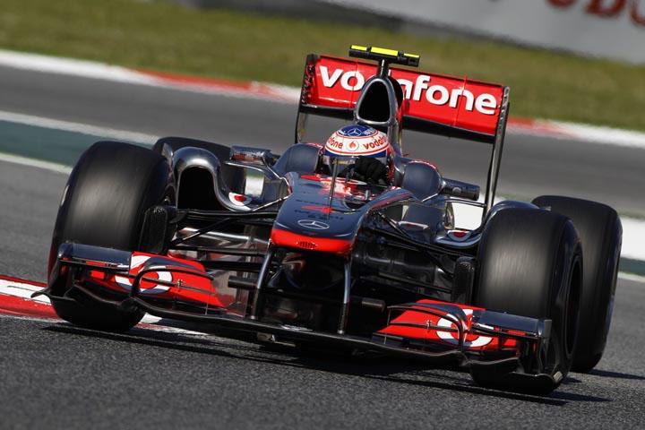 Jenson Button em Barcelona