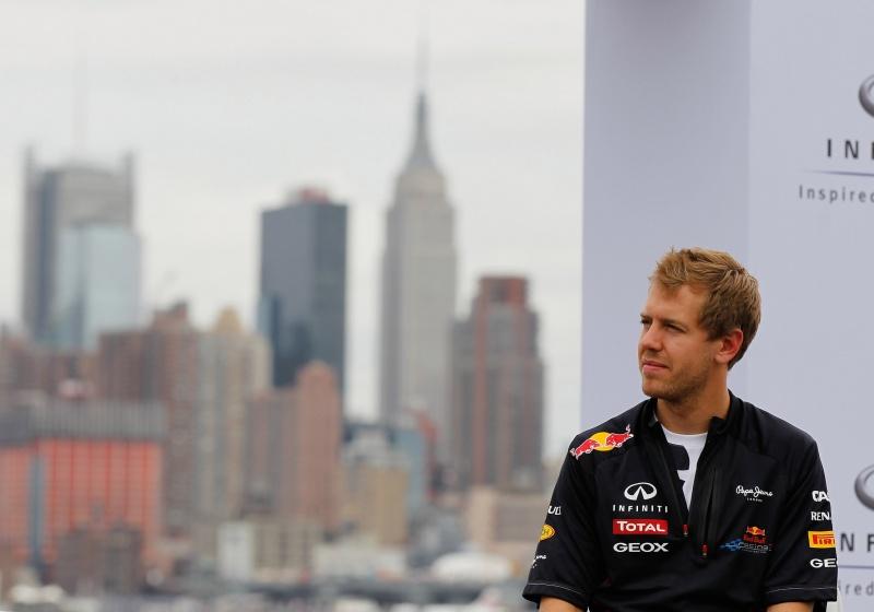Sebastian Vettel visitou o local do circuito de Nova Jersey no ano passado