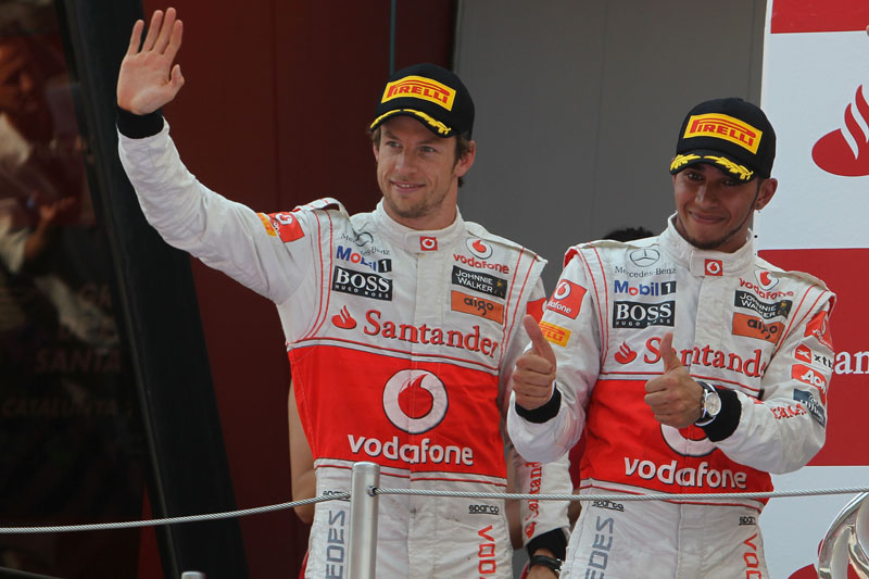 Button foi o terceiro no GP da Espanha