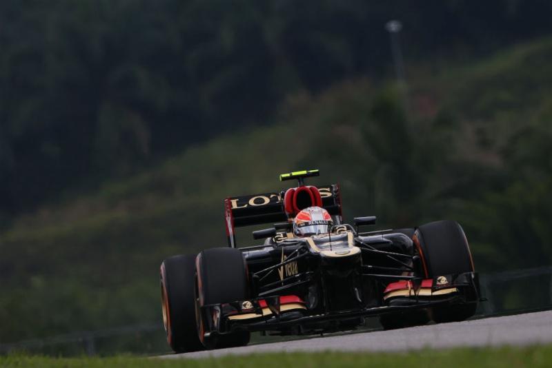 Grosjean foi o melhor da Lotus em Sepang