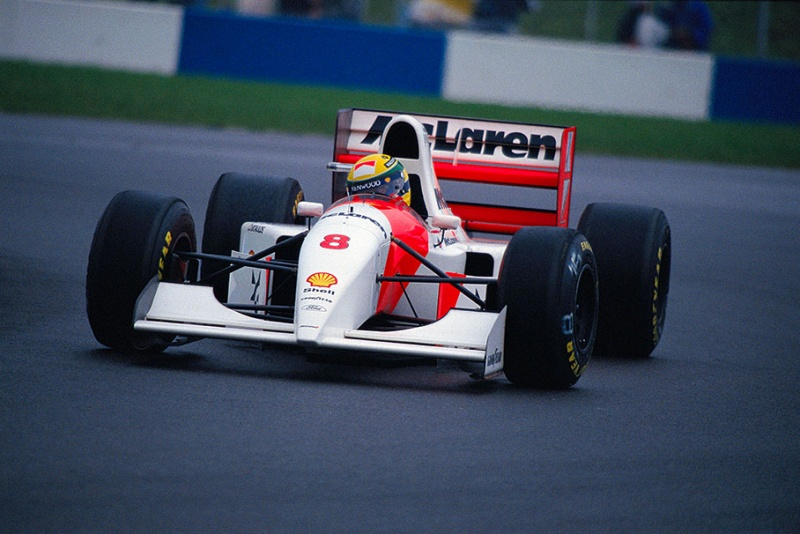 Senna em Donington Park, sua 38ª vitória