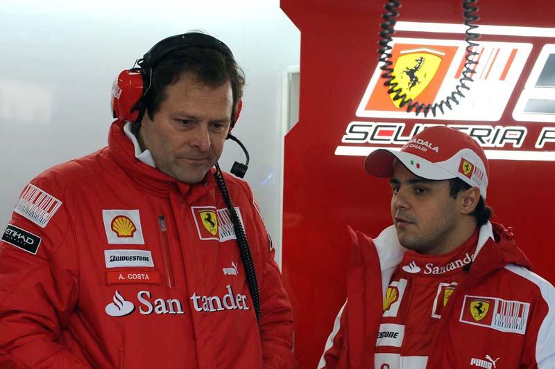Aldo Costa e Felipe Massa