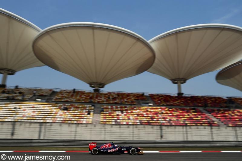 Ricciardo durante o GP da China