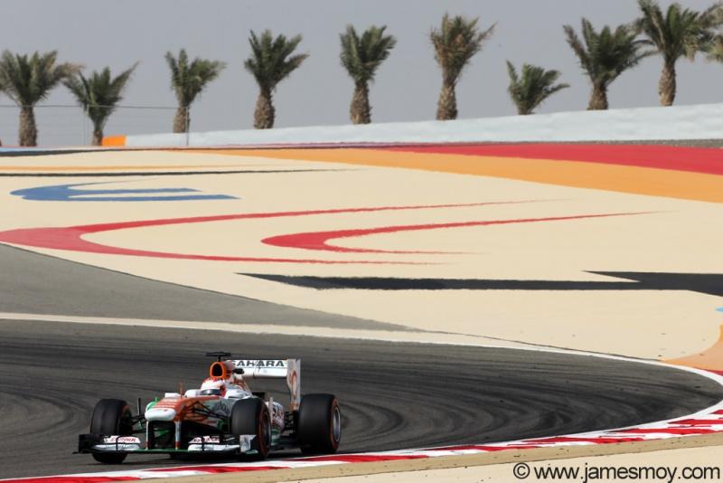 Di Resta durante o treino livre no Bahrein