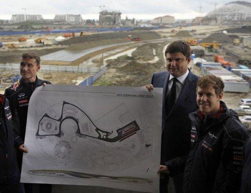 Vettel e Coulthard na Rússia