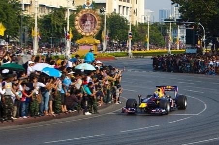 Webber anda com Red Bull na Tailândia em 2010
