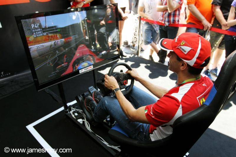Marc Gene no simulador