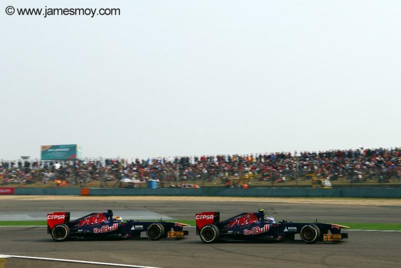 Vergne e Ricciardo no GP da China