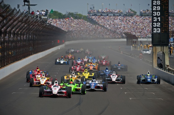 Largada da Indy 500 em 2012