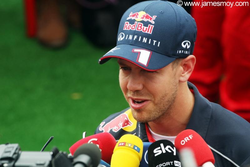 Vettel foi bastante requisitado em Barcelona