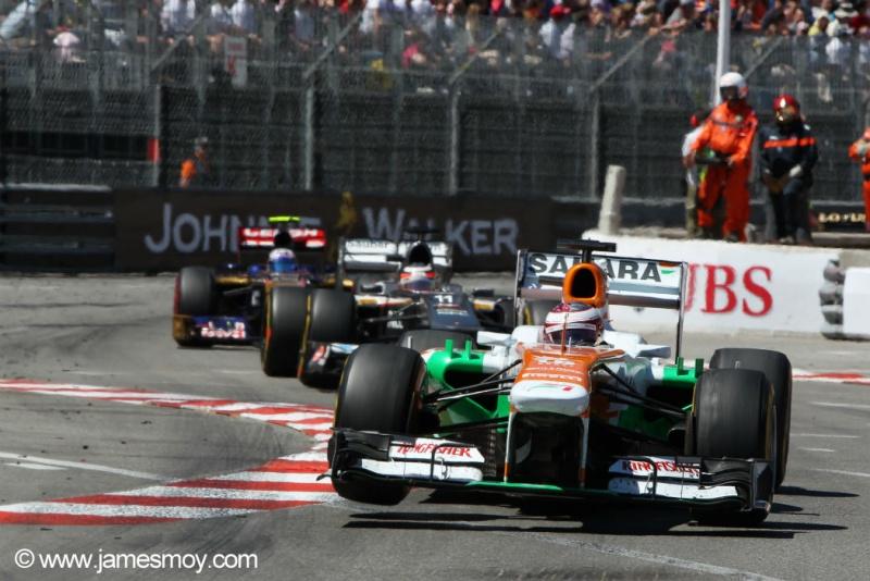 Sutil lidera Hülkenberg e Ricciardo em Mônaco