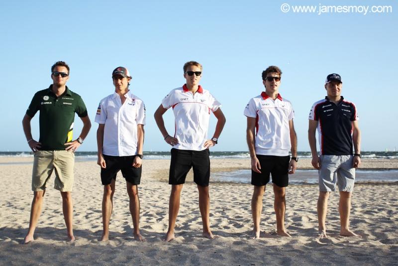 Van der Garde, Gutierrez, Chilton, Bianchi e Bottas