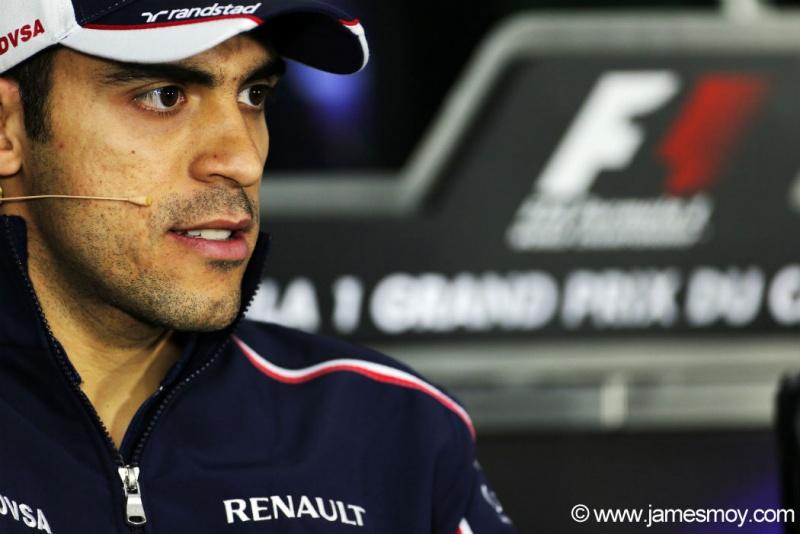 Pastor Maldonado na coletiva da FIA de hoje