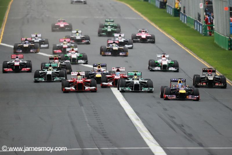 Largada para o GP da Austrália deste ano