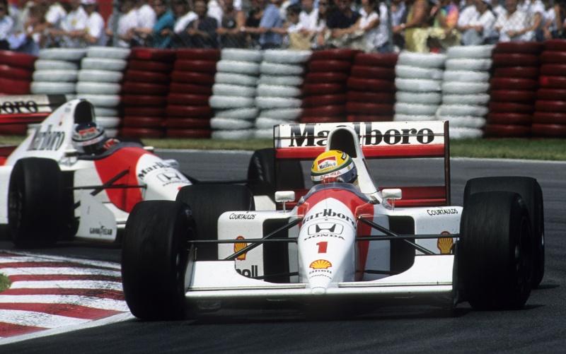 Senna lidera Berger no GP do Canadá de 1992, último ano da parceria McLaren-Honda