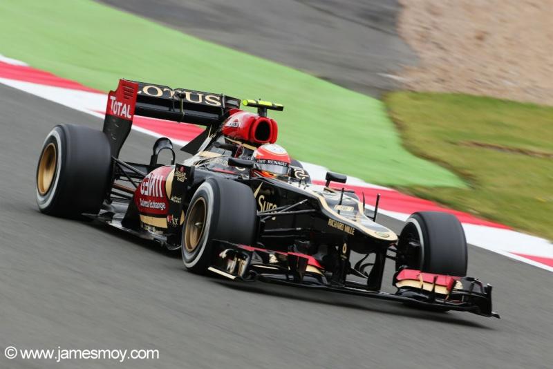Romain Grosjean em Silverstone