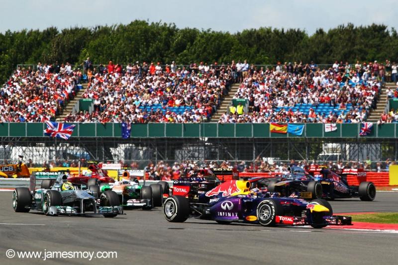 Largada do GP da Grã-Bretanha