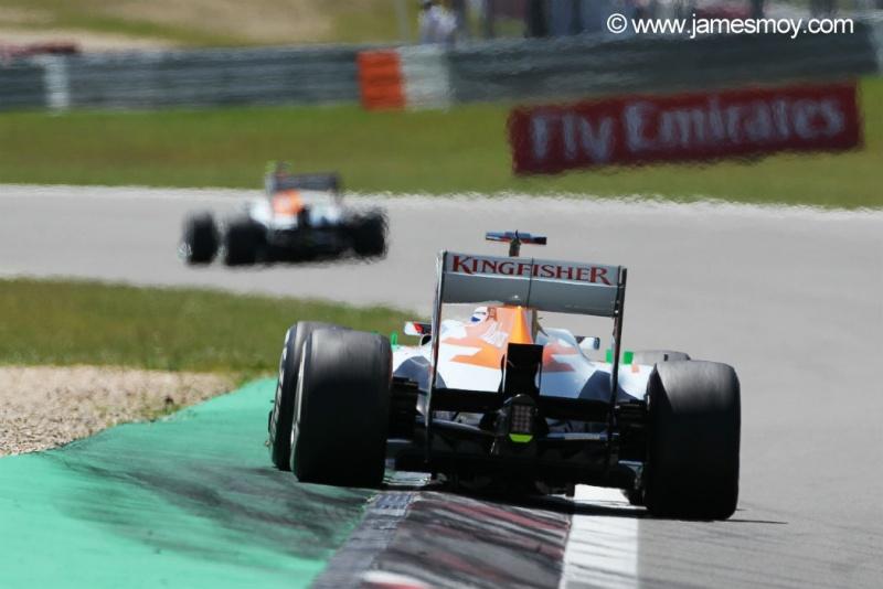 Force Indias foram 11º e 13º hoje em Nürburgring