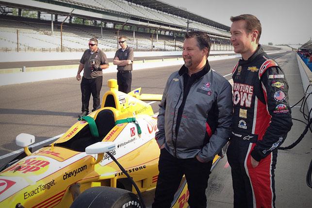 Busch testando pela Andretti em maio