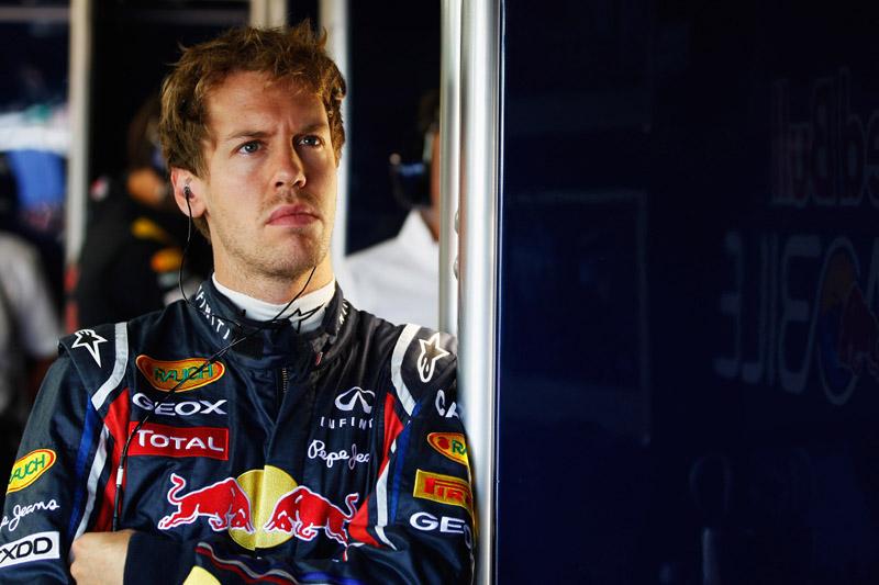 Vettel teve de ver parte do treino de fora do carro