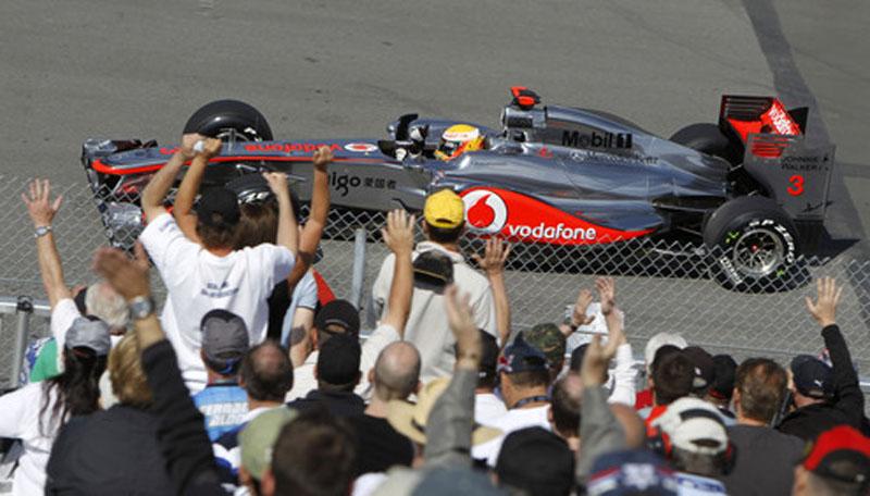 Hamilton terminou o dia em quarto lugar