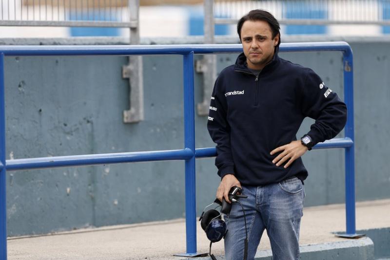 Massa durante os testes no final de janeiro em Jerez