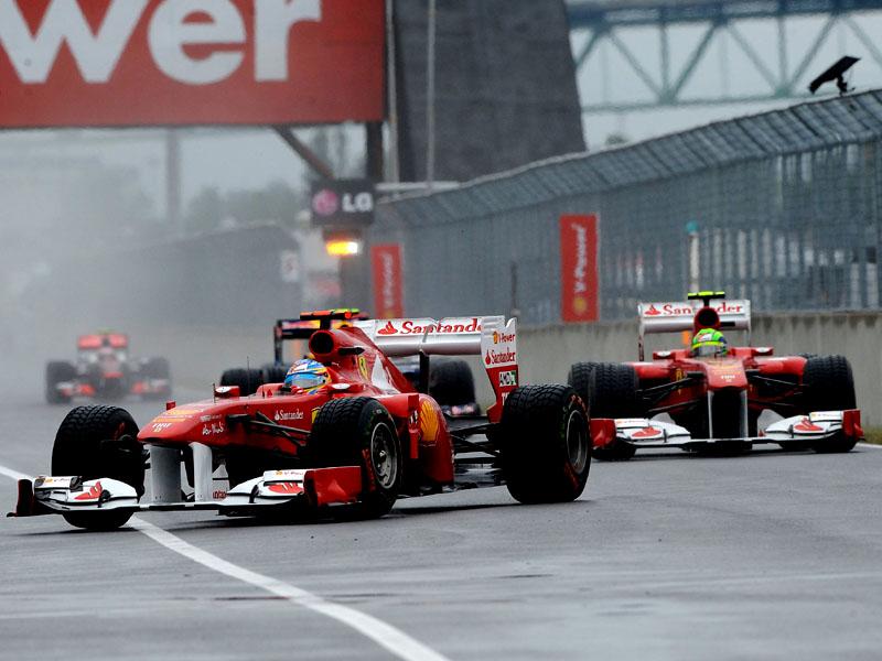 Alonso e Massa à frente de Button em Montreal