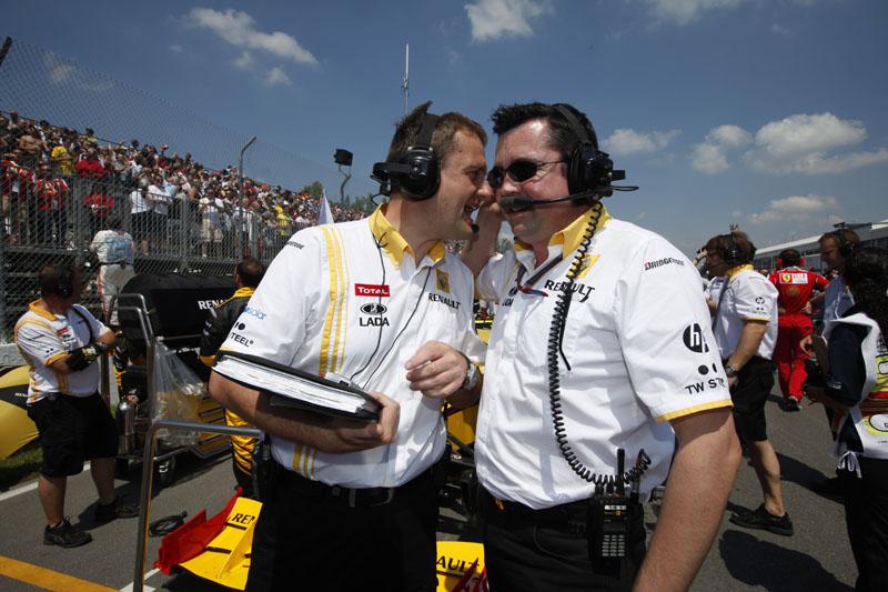 Nielsen (à esquerda) conversa com Boullier