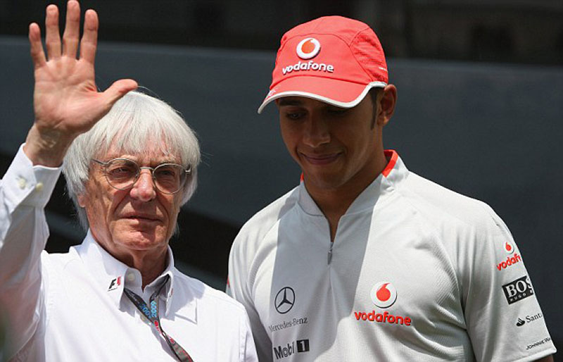 Ecclestone e Hamilton
