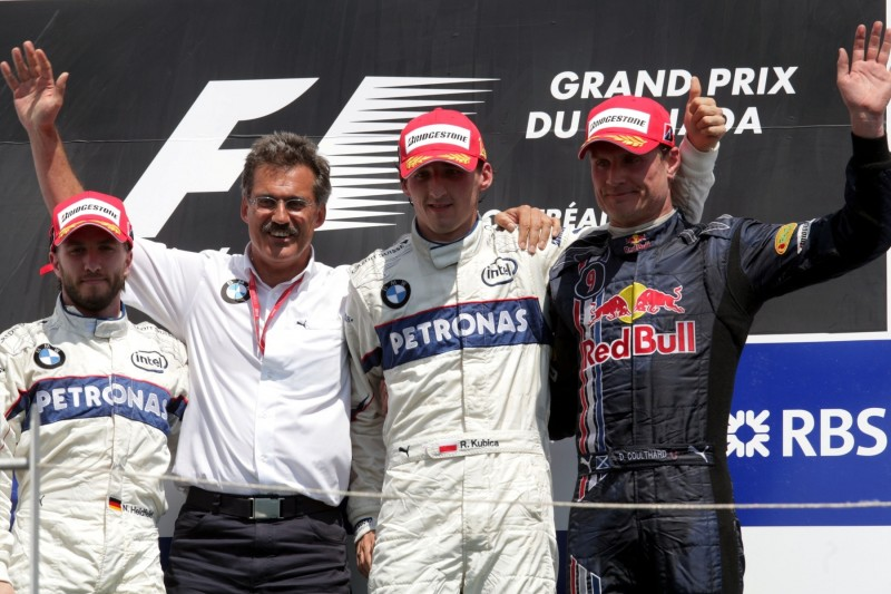 Nick Heidfeld Mario Theissen Robert Kubica David Coulthard Alfa Romeo Alfa Romeo Racing Orlen F1Red Bull Aston Martin Red Bull Racing F1 ~Nick Heidfeld, Mario Theissen, Robert Kubica und David Coulthard ~