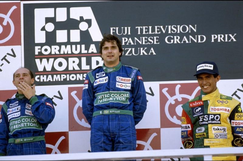 Nelson Piquet Jun. Roberto Moreno Aguri Suzuki Piquet Piquet Sports GP2 ~Nelson Piquet, Roberto Moreno und Aguri Suzuki in Suzuka 1990~