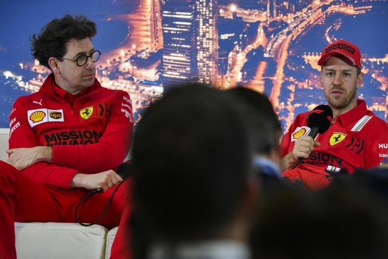 Mattia Binotto Sebastian Vettel Ferrari Scuderia Ferrari Mission Winnow F1 ~Mattia Binotto und Sebastian Vettel (Ferrari) ~