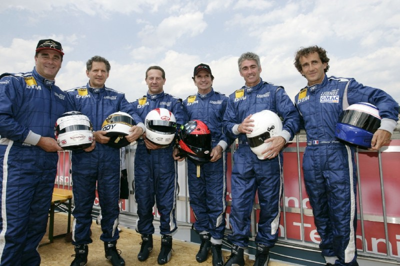 Nigel Mansell, Jody Scheckter, Johnny Cecotto, Emerson Fittipaldi, Mick Doohan, Alain Prost