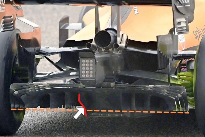 McLaren MCL35M, Diffusor