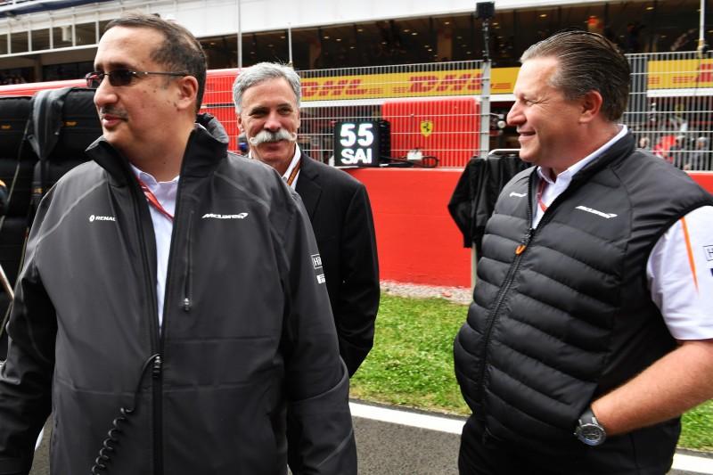 Chase Carey Zak Brown McLaren McLaren F1 Team F1 ~Chase Carey und Zak Brown ~