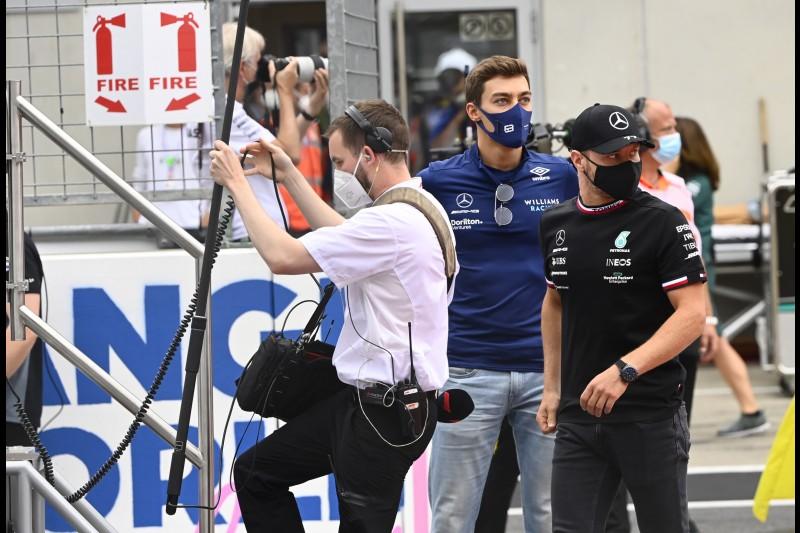 George Russell Valtteri Bottas Williams Williams F1 ~George Russell (Williams) und Valtteri Bottas (Mercedes) ~