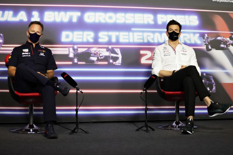 Christian Horner Toto Wolff Red Bull Red Bull F1 ~Christian Horner und Toto Wolff ~