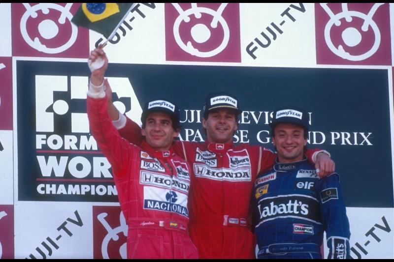 Gerhard Berger Riccardo Patrese McLaren McLaren Mercedes F1Williams Williams F1 Team F1 ~Gerhard Berger, Ayrton Senna und Riccardo Patrese in Suzuka 1991~