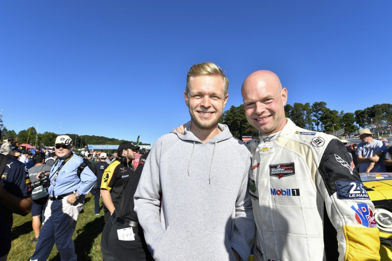 Jan Magnussen Kevin Magnussen ~Jan Magnussen und Kevin Magnussen (Haas) ~