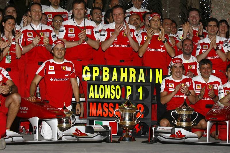 Felipe Massa Stefano Domenicali Fernando Alonso Ferrari Scuderia Ferrari F1 ~Felipe Massa (Williams), Stefano Domenicali und Fernando Alonso (McLaren) ~