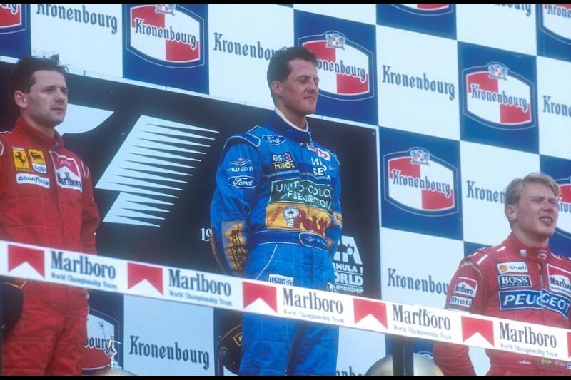 Michael Schumacher Nicola Larini Mika Häkkinen Ferrari Scuderia Ferrari F1McLaren McLaren Mercedes F1 ~Michael Schumacher, Nicola Larini und Mika Häkkinen ~