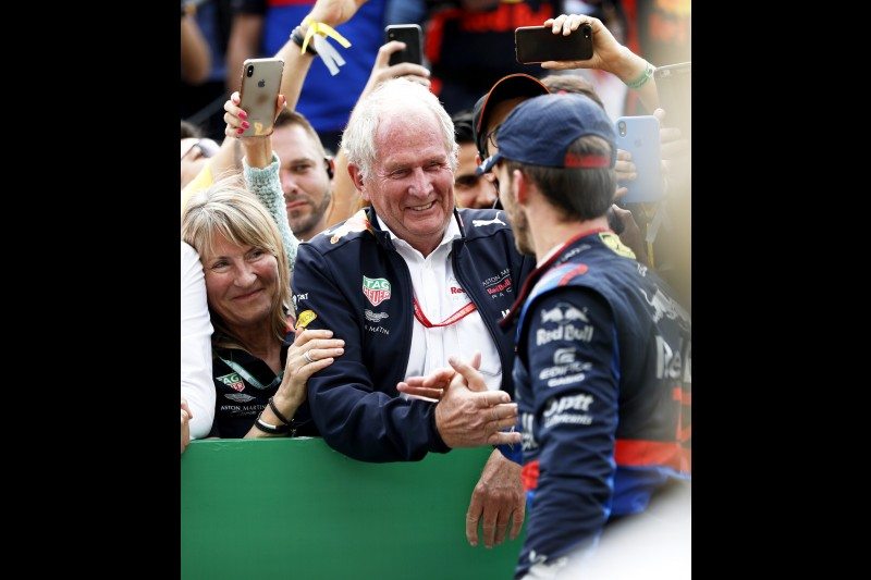 Helmut Marko Pierre Gasly Red Bull Aston Martin Red Bull Racing F1Toro Rosso Red Bull Toro Rosso Honda F1 ~Helmut Marko und Pierre Gasly (Toro Rosso) ~