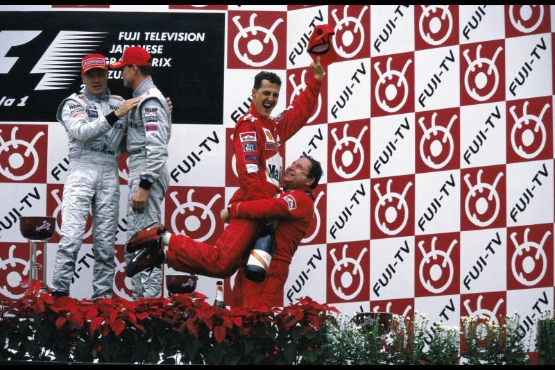 Jean Todt Michael Schumacher David Coulthard Ferrari Scuderia Ferrari F1McLaren McLaren F1 Team F1Red Bull Aston Martin Red Bull Racing F1 ~Jean Todt, Michael Schumacher und David Coulthard ~