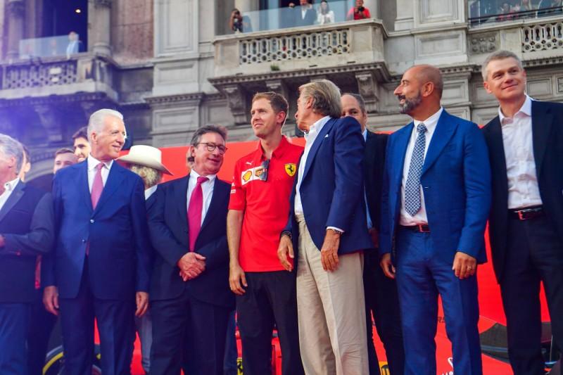 Sebastian Vettel Luca di Montezemolo Ferrari Scuderia Ferrari Mission Winnow F1 ~Sebastian Vettel (Ferrari) und Luca di Montezemolo ~