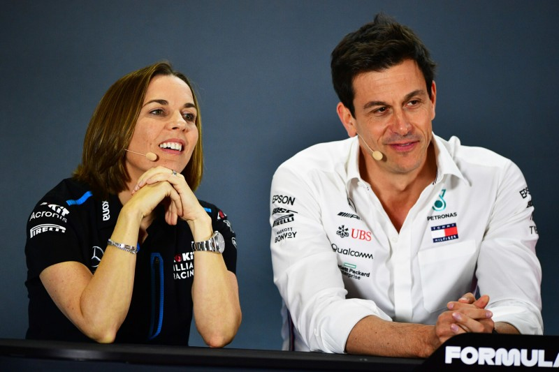 Claire Williams Toto Wolff Williams ROKiT Williams Racing F1CIP CIP Moto3 ~Claire Williams und Toto Wolff ~
