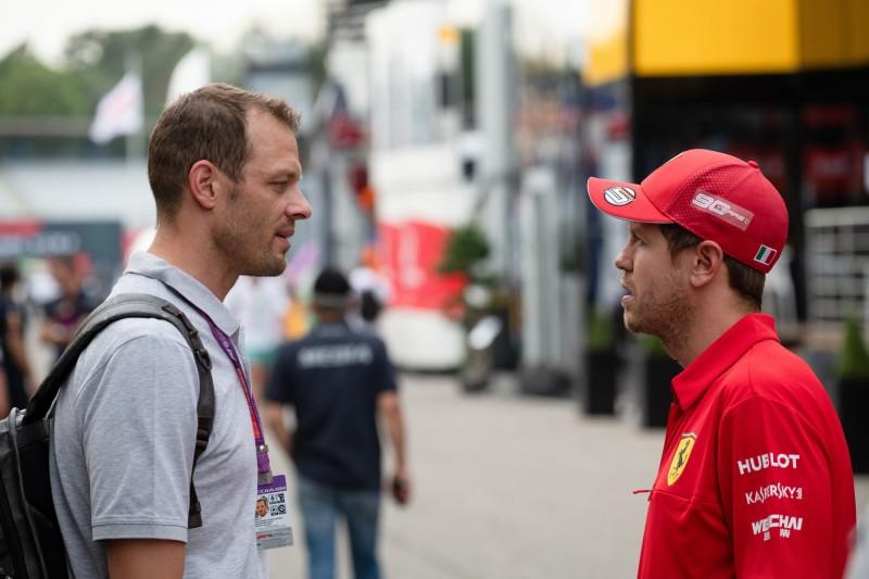 Alexander Wurz Sebastian Vettel Ferrari Scuderia Ferrari Mission Winnow F1 ~Alexander Wurz und Sebastian Vettel (Ferrari) ~