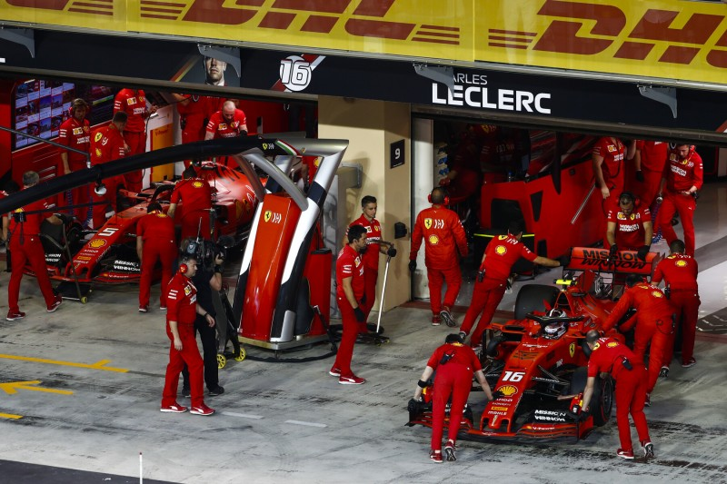 Sebastian Vettel Charles Leclerc Ferrari Scuderia Ferrari F1 ~Sebastian Vettel (Ferrari) und Charles Leclerc (Ferrari) ~
