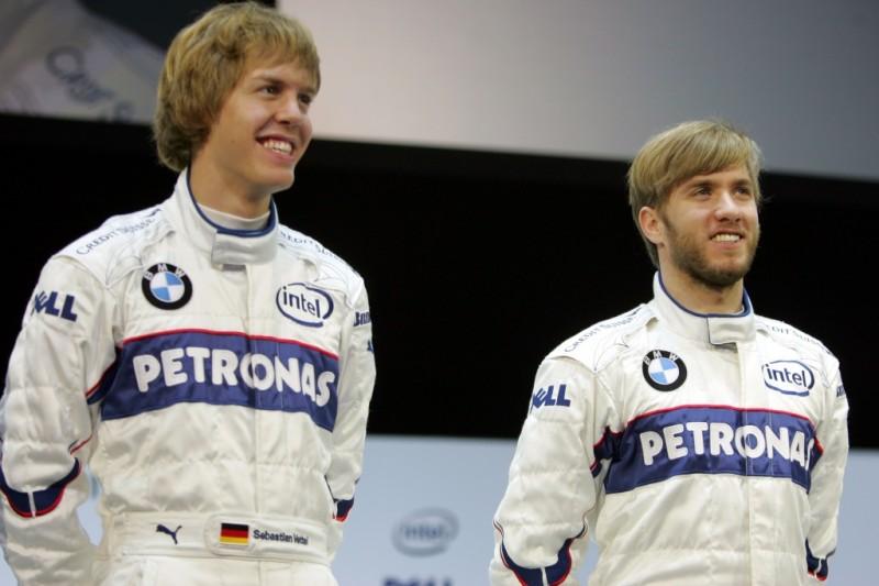 Sebastian Vettel Nick Heidfeld Alfa Romeo Alfa Romeo Racing Orlen F1 ~Sebastian Vettel (Ferrari) und Nick Heidfeld ~