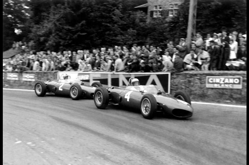 Ferrari Scuderia Ferrari F1 ~Phil Hill und Wolfgang Graf Berghe von Trips (beide Ferrari)~